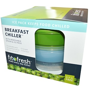 Фит и Фрэш, Breakfast Chiller with Removable Spoon & Ice Pack, 7 Piece Bowl Set отзывы покупателей