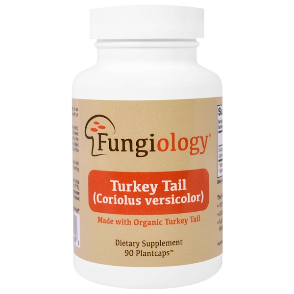 Fungiology, Turkey Tail (Coriolus Versicolor), Full-Spectrum, Certified Organic, Cellular Support, 90 Plantcaps (Discontinued Item)