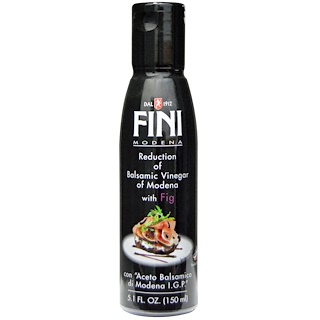 FINI, Balsamic Vinegar of Modena with Fig, 5.1 fl oz (150 ml)