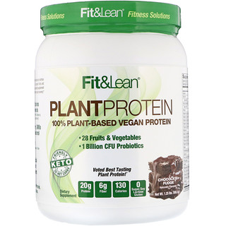 Fit & Lean, Plant Protein, Chocolate Fudge, 1.25 lb (565.5 g)