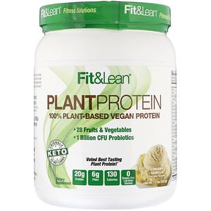 Fit & Lean, Plant Protein, Creamy Vanilla, 1.17 lb (532.5 g)