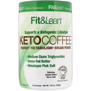Fit & Lean, Keto Coffee, 7.93 oz (225 g)