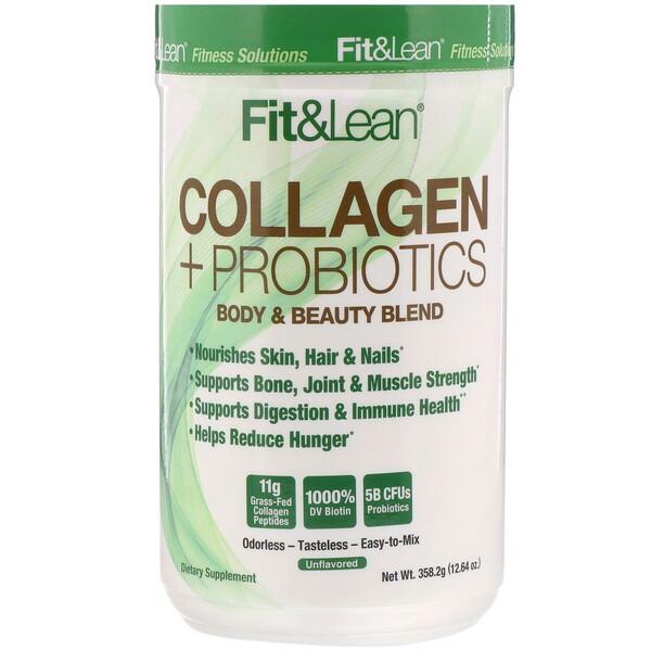 Fit & Lean, Colágeno y probióticos, Sin sabor, 358,2g (12,64oz) (Discontinued Item)