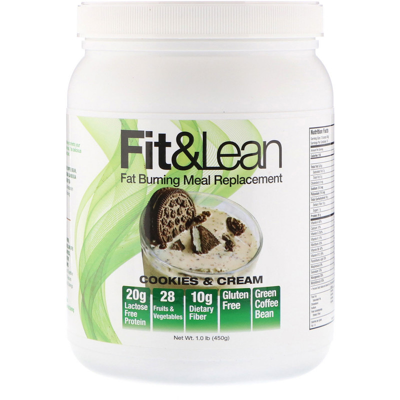 Fat Burning Meal Replacement, Cookies & Cream, 1.0 lb (450 g)