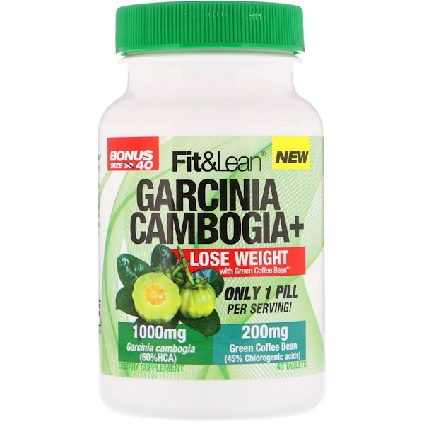 Fit & Lean, Garcinia Cambogia+, 40 Tablets