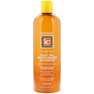 Fantasia, Pure Tea Silky Gel Moisturizer Activator, Hair and Scalp Conditioner, 16 fl oz (473 ml)