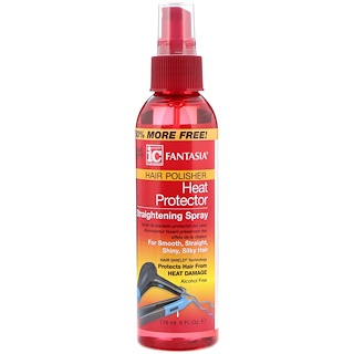 Fantasia, IC, Hair Polisher, Heat Protector Straightening Spray, 6 fl oz (178 ml)