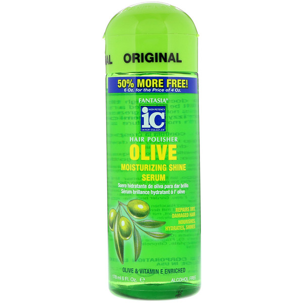 Fantasia, IC, Hair Polisher, Moisturizing Shine Serum, Olive, 6 fl oz (178 ml) (Discontinued Item)