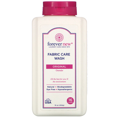 Купить Forever New Fabric Care Wash, Granular, Original, 16 oz (454 g)