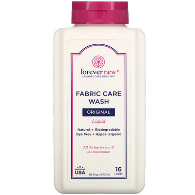 Купить Forever New Fabric Care Wash, Liquid, Original, 16 fl oz (473 ml)