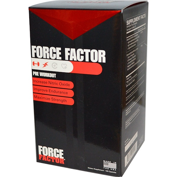 Force Factor, Pre Workout, 60 Capsules (Discontinued Item)