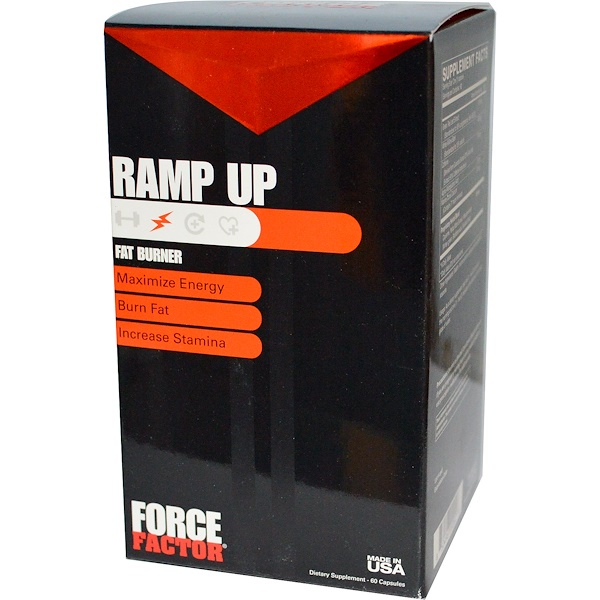 Force Factor, Ramp Up, Fat Burner, 60 Capsules (Discontinued Item)
