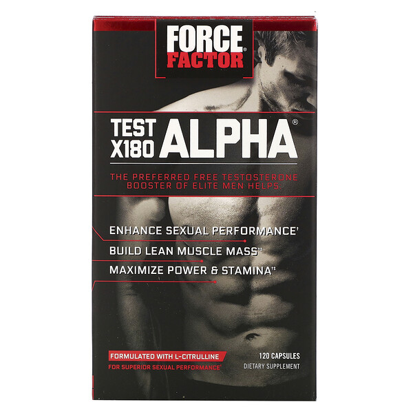 Test X180 Alpha, Testosterone Booster, 120 Capsules