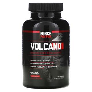 Force Factor, Volcano, Explosive Nitric Oxide Booster, 120 Capsules