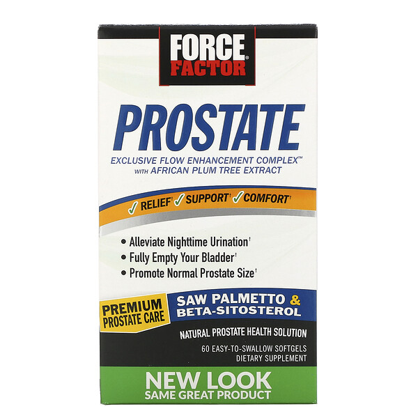 Prostate, Natural Prostate Health Solution, 60 Easy-To-Swallow Softgels