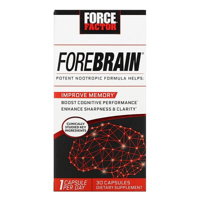 Force Factor Forebrain, Energy & Focus Formula, 30 Capsules