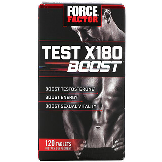 Force Factor, Test X180 Boost, Male Testosterone Booster, 120 Tablets