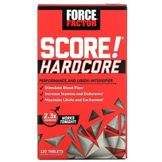 Force Factor, SCORE! Hardcore, Performance and Libido Intensifier, 120 Tablets