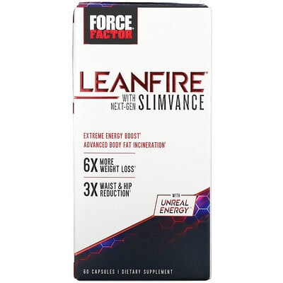 Force Factor LeanFire with Next-Gen SLIMVANCE, 60 Capsules