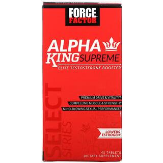 Force Factor, AlphaKingSupreme, Potenciador de la testosterona de elite, 45comprimidos