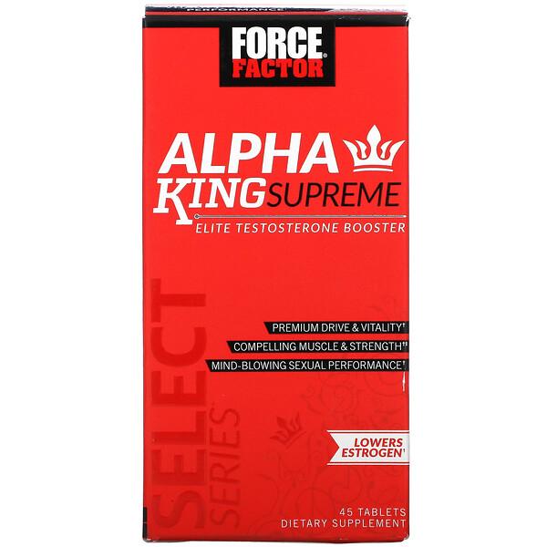 Alpha King Supreme, Reforço de Testosterona Elite, 45 Comprimidos