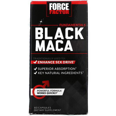 Force Factor Black Maca, 60 Capsules