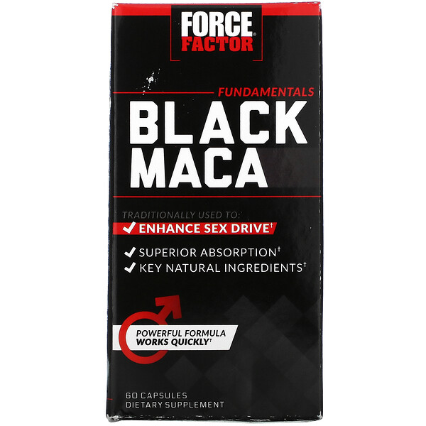 Black Maca, 1000 mg, 60 Capsules