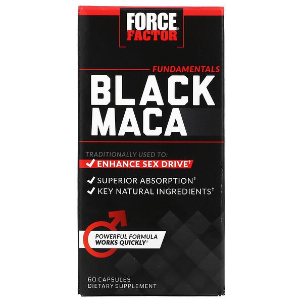 Force Factor, Black Maca, 60 Capsules