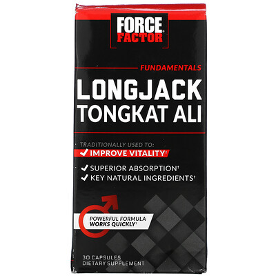 Force Factor Longjack Tongkat Ali, 30 Capsules
