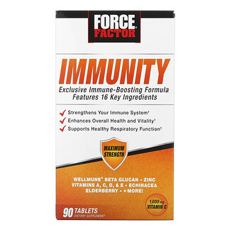Force Factor, Immunity, 1,000 mg, 90 Tablets