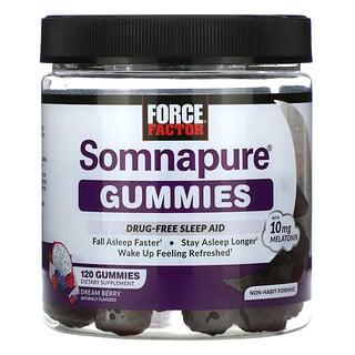 Force Factor, Somnapure Gummies, Melatonin 10 mg, Dream Berry, 120 Gummies