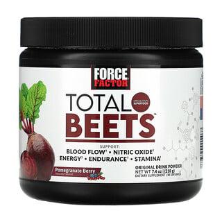 Force Factor, Total Beets,原始飲品粉,石榴漿果,7.4 盎司(210 克)