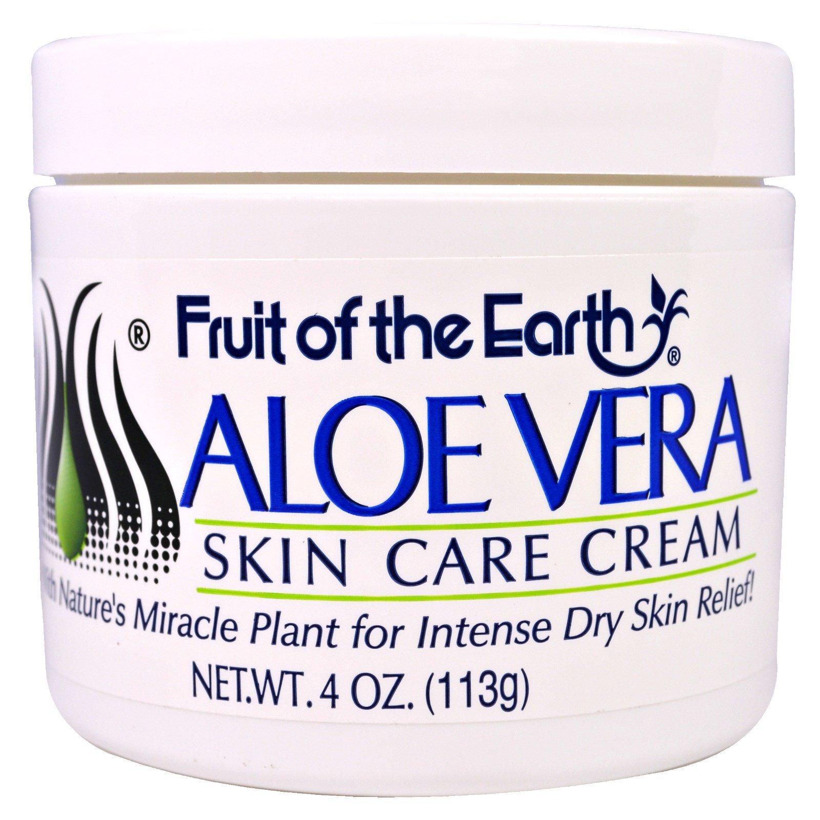 Fruit Of The Earth Aloe Vera Skin Care Cream 4 Oz 113 G