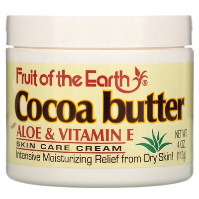Купить Fruit of the Earth Cocoa Butter with Aloe & Vitamin E, 4 oz (113 g)