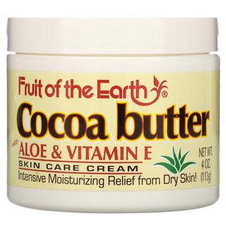 Fruit of the Earth, Cocoa Butter with Aloe & Vitamin E, 4 oz (113 g)