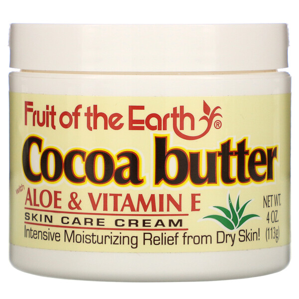 Cocoa Butter with Aloe & Vitamin E, 4 oz (113 g)
