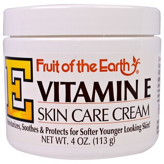 Fruit of the Earth, Vitamina E, crema para el cuidado de la piel, 4 oz (113 g)