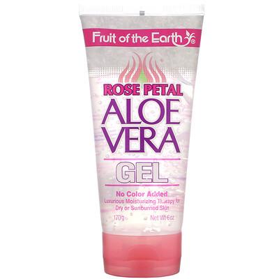 Купить Fruit of the Earth Rose Petal, Aloe Vera Gel, 6 oz (170 g)