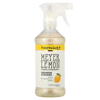 Fruit of the Earth, Meyer Lemon Counter Cleaner, 16 fl oz (473 ml)