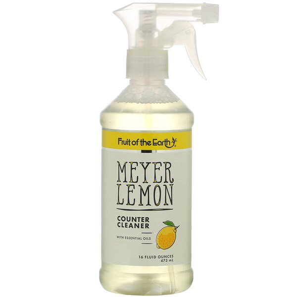 Fruit of the Earth, Meyer Lemon Counter Cleaner, 16 fl oz (473 ml)