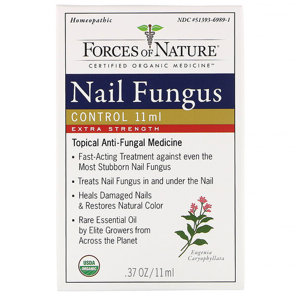 Forces of Nature, Control de hongos de las uñas, Concentración extra, 11 ml (0,37 oz)