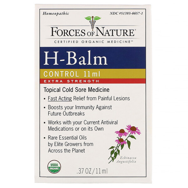 Forces of Nature, H-Balm Control, Extra Strength,  0.37 oz (11 ml) (Discontinued Item)