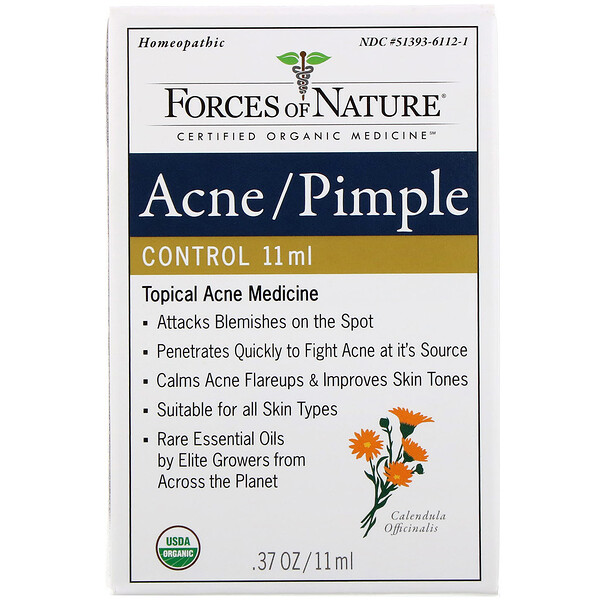 Forces of Nature, Acne/Pimple Control, 0.37 oz (11 ml)