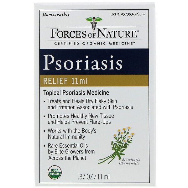Forces of Nature, Alivio para la psoriasis, 11 ml (0,37 oz)
