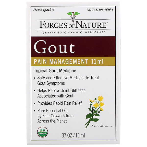 Forces of Nature, Gout Pain Management, 0.37 oz (11 ml) (Discontinued Item)