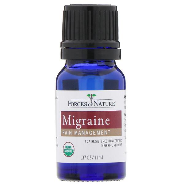 Forces of Nature, Migraine Pain Management, 0.37 oz (11 ml)