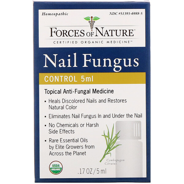 Forces of Nature, Controle Fúngico para Unhas, 0,17 oz (5 ml)