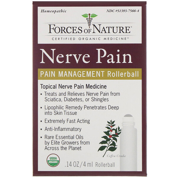Nerve Pain, Pain Management, Rollerball, 0.14 oz (4 ml)