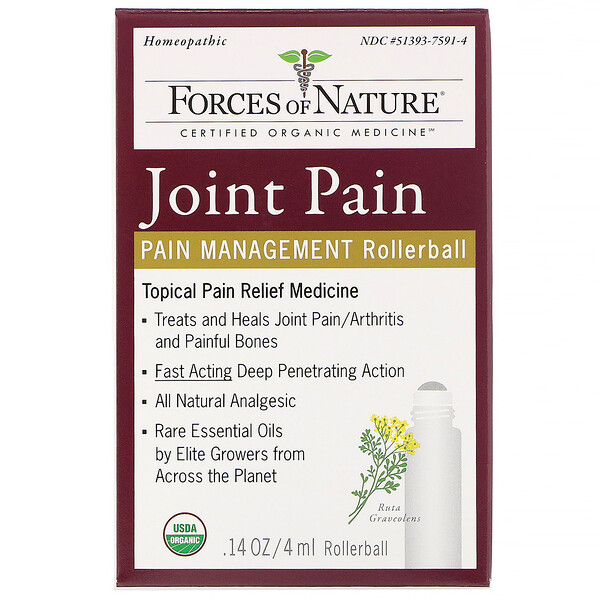 Joint Pain, Pain Management, Rollerball, 0.14 oz (4 ml)