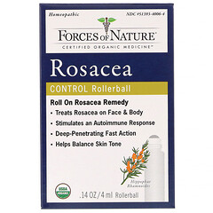 Forces of Nature, Rosacea Control, Rollerball,  0.14 oz (4 ml)